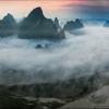 Панорама реки Ли в утренних облаках #2