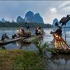 Панорама с китайскими рыбаками