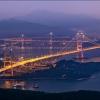 Знаменитые мосты Гонконга на закате – Lantau Link и Tsing Ma Bridge