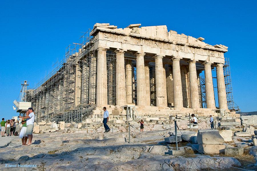 Афины. Акрополь. Парфенон. август 2008