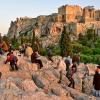 Афины. Ареопаг. Закат с видом на Акрополь. ноябрь 2011
