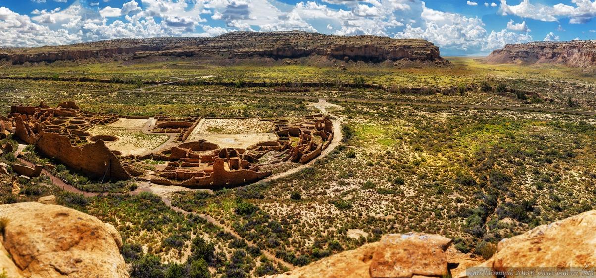 Пуэбло Бонито в национальном парке Чако. Нью Мексико