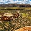 Вид на руины Pueblo Bonito в Национальном историческом парке Chaco Culture. Нью Мексико