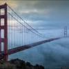 Туман над мостом Golden gate в Сан-Франциско