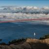 Белый парус, под мостом Golden Gate