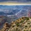 Река Колорадо на дне Гранд Каньона