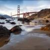 Baker beach рядом с Golden Gate