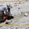 Работа вулканологов в кратере вулкана
