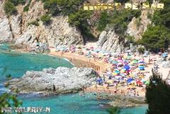 Испания .Пляж в пригороде Lloret De mar, Сosta Brava