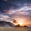 Закат на пляже Калансия