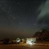 Кемпинг в лагуне Detwah под звездным небом