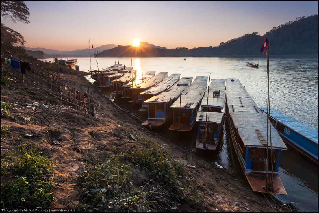 Луанг Прабанг. Вечер на реке Меконг