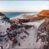 С высоты песчаных дюн пляжа Калансия