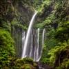 Водопад Tiu Kelep расположенный в джунглях острова Ломбок