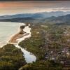 Закат на побережье Суматры