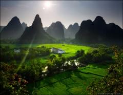 Пейзаж вокруг деревни Минг Ши