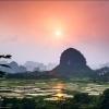 Рисовые поля Wu Long Shan Zhung